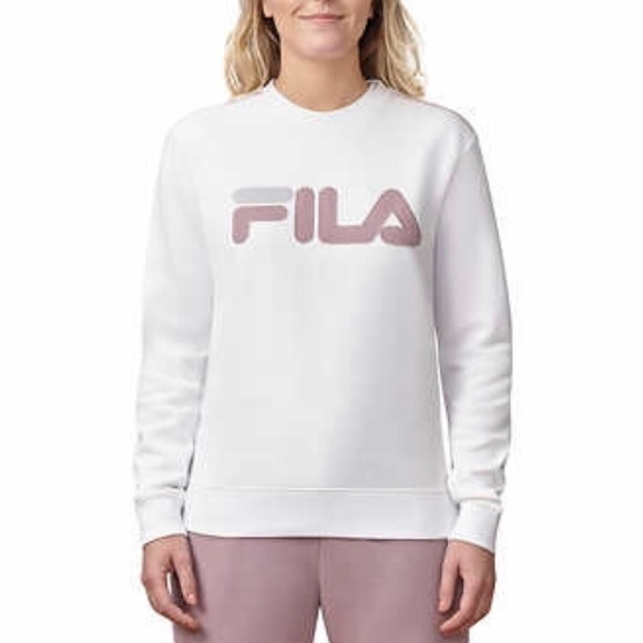 dafef62380e3 Fila Tops | Ladies French Terry Crew Neck Sweatshirt | Poshmark